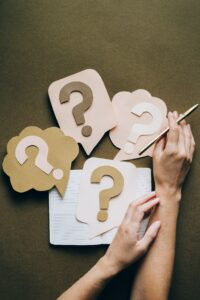 question marks for FAQ page for Houston SEO